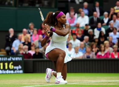 Serena Williams: favourite to take the title today.