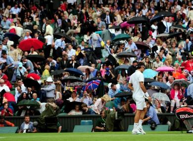 Roger Federer: centre of attention.