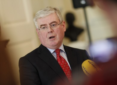 Eamon Gilmore speaks to the media today after meeting with the Irish ambassador to Mauritius, Brendan McMahon.