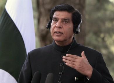Pakistani Prime Minister Raja Pervaiz Ashraf