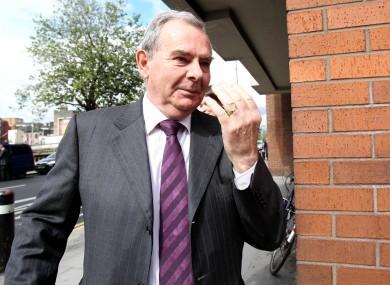 Seán Quinn outside the High Court earlier this month.