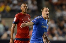 Rousing welcome for John Terry at Yankee Stadium