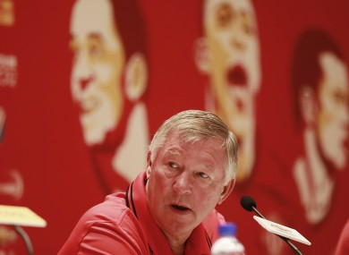 Alex Ferguson: we're not lying on our backsides.