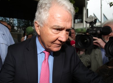 Seán FitzPatrick leaves court in Dublin today