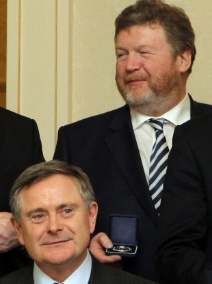Brendan Howlin (L) and James Reilly