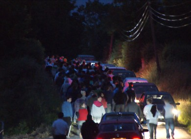 A picture of the scene near the house in Lavey last night.