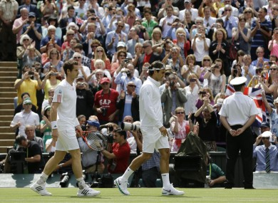 Andy Murray plays follow the leader before the 2012 Mens' Final.