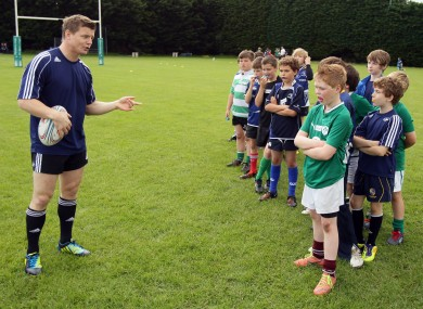 Brian O'Driscoll holds a personal rugby academy at Wanderers FC.
