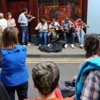 Musicians entertaining the Cavan crowds. (Photo: Laura Hutton/Photocall Ireland)