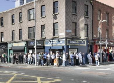 Social Welfare Local Office Bishop Square queue, Dublin