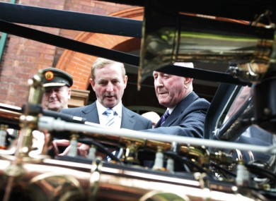Enda Kenny inspects Sliabh na mBan, the armoured car in which the body of Michael Collins was evacuated. Both the car and the Taoiseach attended today's events in Béal na mBláth.