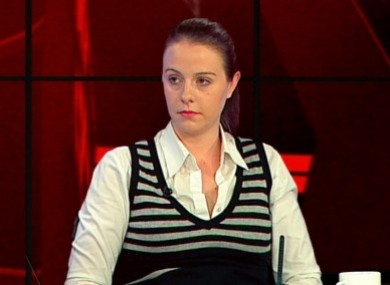 Aoife Quinn on a previous appearance on TV3's Tonight with Vincent Browne