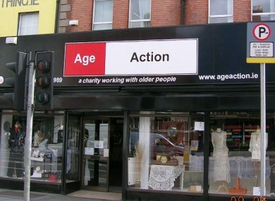 Age Action Ireland's shop on Dublin's Camden St. The charity is the latest to ask staff to take two weeks' unpaid leave in a bid to balance its books.