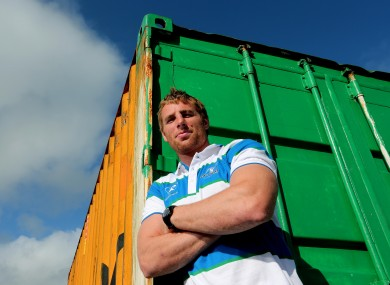 Connacht's Gavin Duffy at a press conference in the Sportsgrounds yesterday.