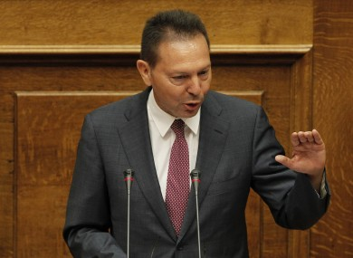 Greece's Finance Minister, Yannis Stournaras