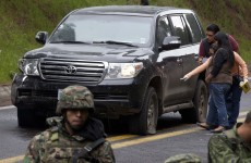 Why did the Mexican police shoot at a US government vehicle?