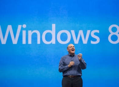 Microsoft CEO Steve Ballmer talking about the new OS