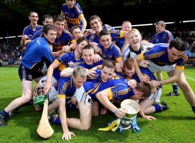 The Tipperary minor side celebrating after their recent Munster final triumph.