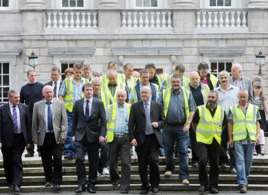 Lagan Brick workers at the Dáil in July