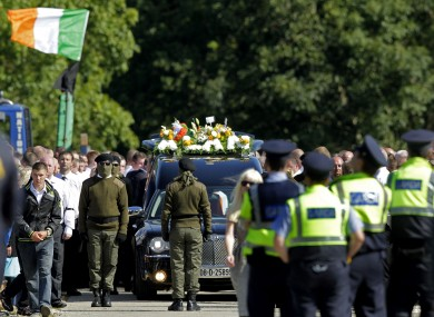 The funeral of Alan Ryan at the Church of the Holy Trinity in Balgriffen last Saturday