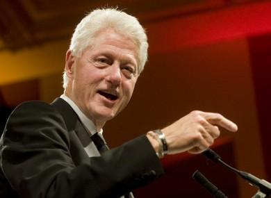 Former US President Bill Clinton.