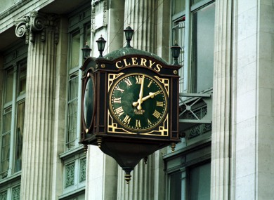 The clock at Clerys