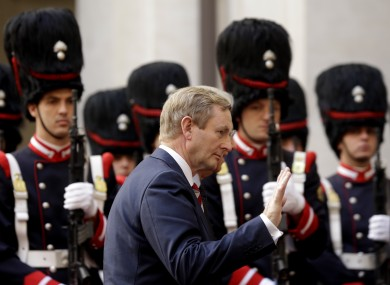 Enda Kenny in Rome yesterday
