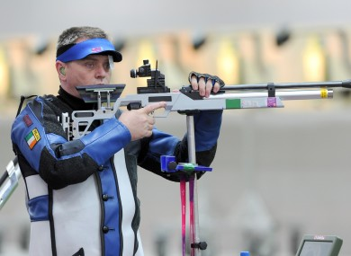 Sean Baldwin competes in the 50m Rifle 3 positions SH1 qualifiers later today.