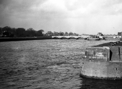 Lady of Limerick? The River Shannon photographed in 1937 looking upriver towards Wellesley Bridge in Limerick city.