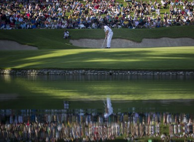 Sergio Garcia on the 17th green last year.