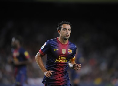 Xavi in action last time out.