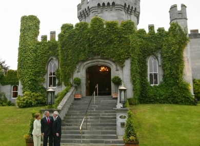 Bertie Ahern with George Bush outside Dromoland Castle in 2004.