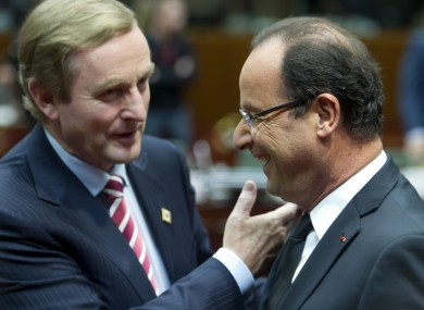 Kenny and Hollande in Brussels last week.