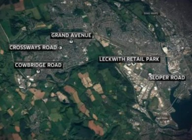 The locations in Cardiff where the hit-and-run incidents occurred.