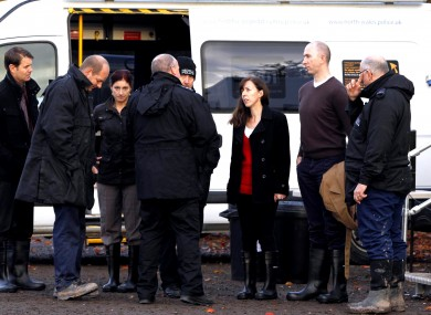 Emma Gowing and her husband Shay pictured with the search team today