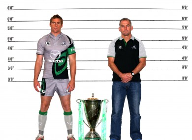 Connacht skipper Gavin Duffy and his manager Eric Elwood.