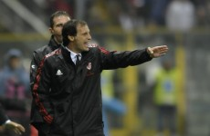 Milan coach Max Allegri fears a Serie A relegation scrap