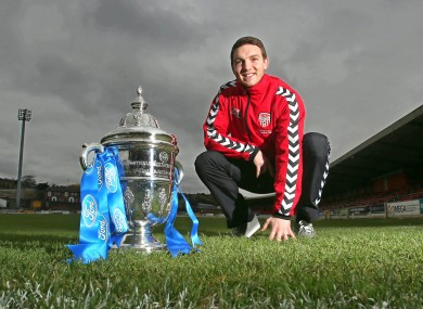 Deery with the Ford FAI Cup.