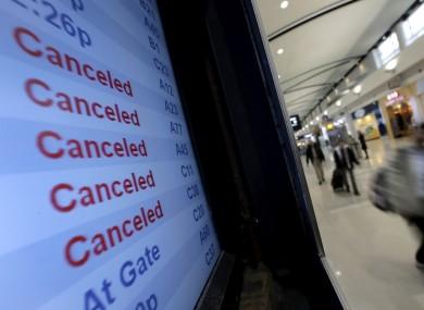 Detroit airport yesterday.
