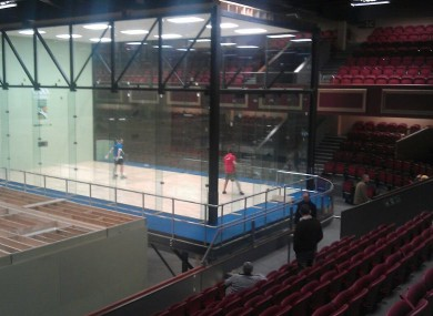 The set-up at CityWest this week for the world championships.