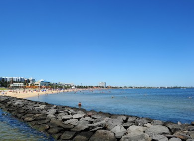 General view of Brighton Beach, Melbourne, Australia.