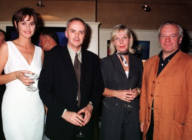 Norman Hewson, far right, at Tosca in 1997. With him are model L