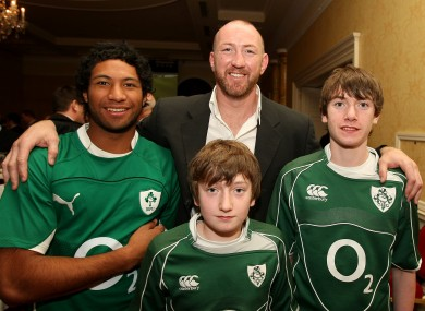 Trevor Brennan at the launch of his rugby tour business in 2009.