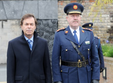 Alan Shatter, left, with Martin Callinan, right.