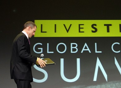 Lance Armstrong arriving to open the Livestrong Global Cancer Summit in Dublin in 2009.