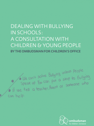 The front cover of Emily Logan's report following a nationwide consultation on bullying.