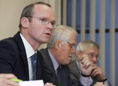 Minister Simon Coveney at the announcement today.