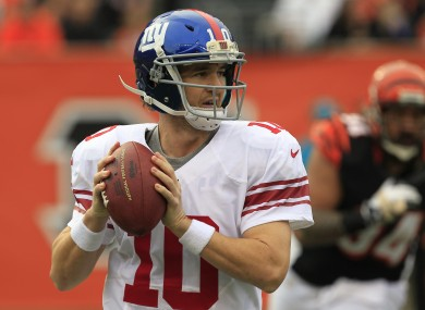 New York Giants quarterback Eli Manning is due a good performance this weekend.
