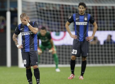 Sneijder looks set for the exit door at Inter.