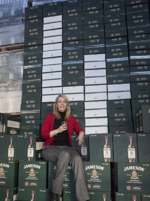Irish Distillers Pernod Ricard CEO Anna Malmhake at the Jameson bottling plant at Fox and Geese, Dublin